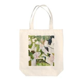 ばらの生垣(春) Tote bags