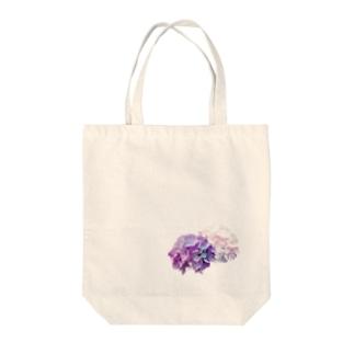 むらさき紫陽花 Tote bags