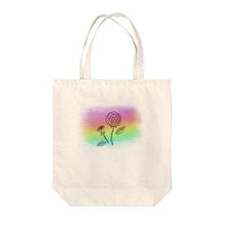 花モチーフ グラデーション1 Tote bags