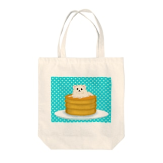 ホットケーキポメ Tote bags