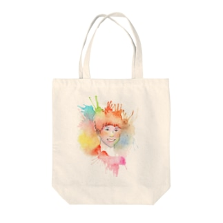 Colorful Portrait Tote bags