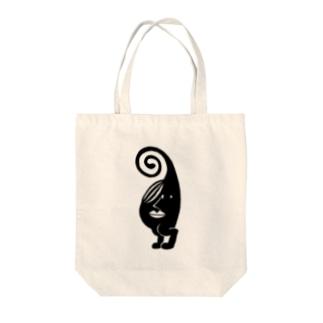 サチミホコ Tote bags