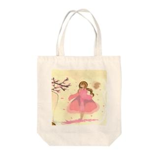桜の木の下 Tote bags