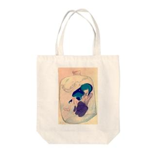 小瓶の中の少女 Tote bags