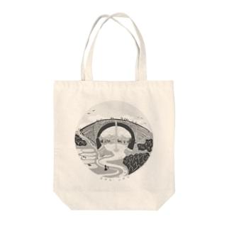 TSUJUNKYO モノクローム Tote bags