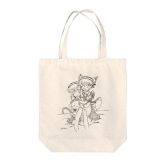 獣妹達(苺花×神子) Tote bags