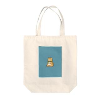 携帯依存症 トラ猫 Tote bags