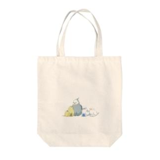 ドット絵インコたち Tote bags