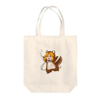 リスレンジャーカラフルマント Tote bags