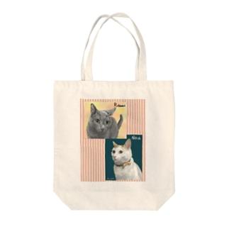Ramu & Noa Tote bags