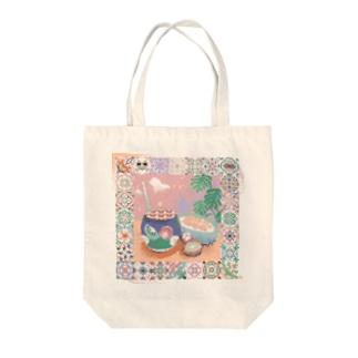 ドリアンMIXスムージー Tote bags