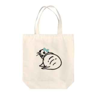 バイカルアザラシのバイカルちゃん Tote bags