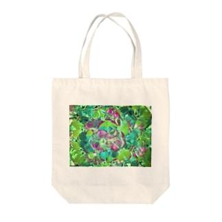 万華鏡 グリーン Tote bags