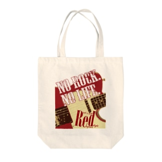 No Rock. No Life. Red Tote bags