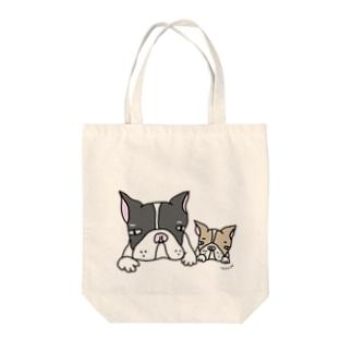 あすか工房**犬の親子 Tote bags