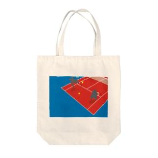テニスゴリラ Tote bags