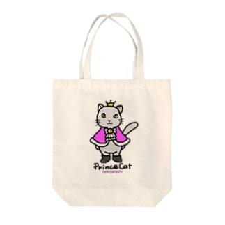 ねこの王子様*ピンク Tote bags