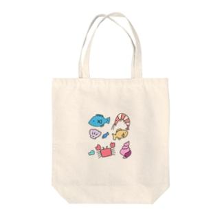 うみのさち Tote bags