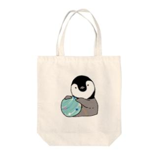 水風船とペンギン Tote bags