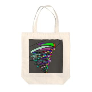 スパイラル Tote bags