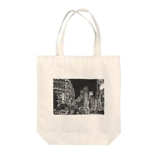 モノクロ東京 Tote bags