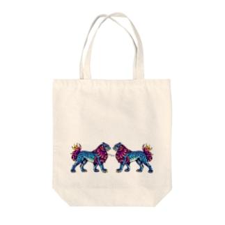 カモフラ獅紋 Tote bags