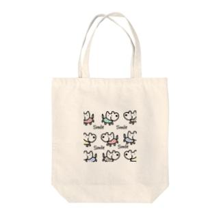 スマイルドック🐕 Tote bags