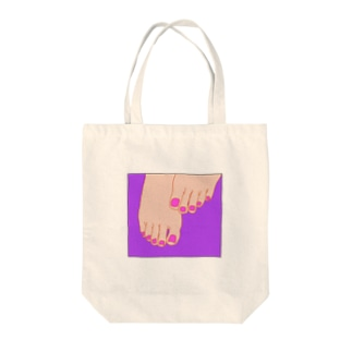 TUMASAKI ヴァイオレット×マゼンタ Tote bags