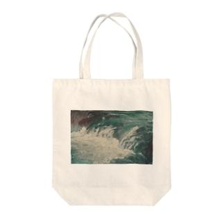 渓流 Tote bags