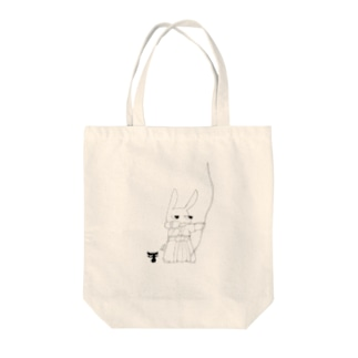 ウサギの弓道 Tote bags