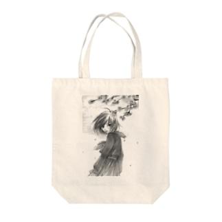 桜舞うセーラ服 Tote bags
