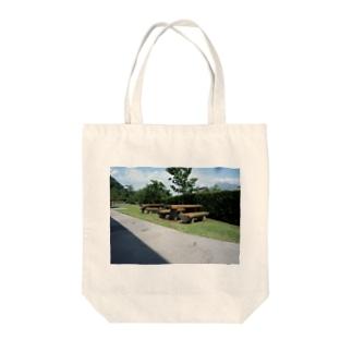 仙巌園のベンチ Tote bags