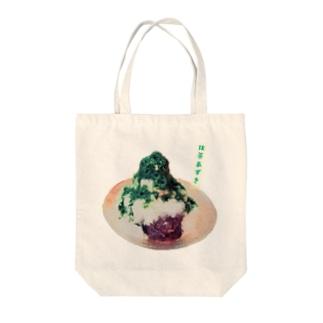 カキ氷 抹茶あずき Tote bags