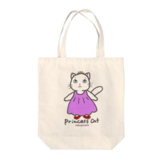 ねこのお姫さま(ピンク) Tote bags