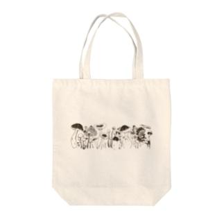 *きのこ* Tote bags