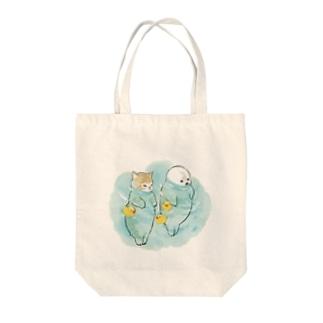 海とにゃんこ Tote bags