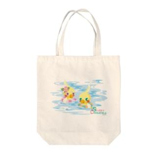 Sweet Cockatiels/浮き輪で海水浴 Tote bags