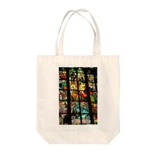 チェコの教会のステンドグラス Tote bags