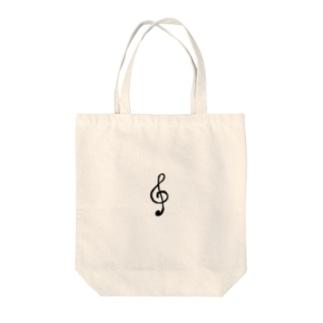 Komachingのおんぷ Tote bags