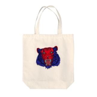 FIELD EDGE.のトラ Tote bags