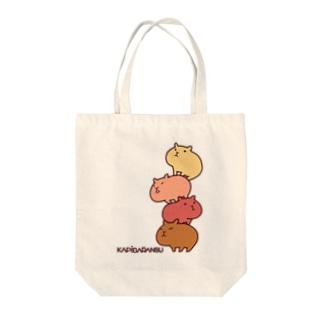 カピバランス Tote bags