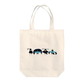 フウチョウコンビ Tote bags