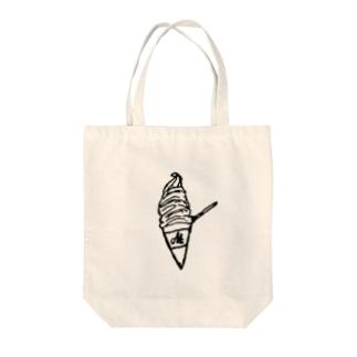ソフトクリーム Tote bags