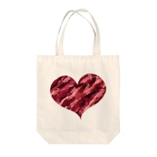 アートハート Tote bags
