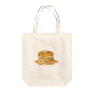 3段ホットケーキ Tote bags