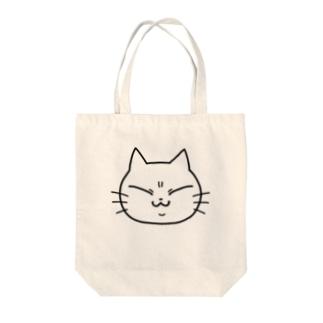 しろねこゆっこ(かお) Tote bags