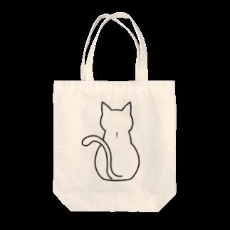 おとんのしろねこゆっこ(せなか) Tote bags