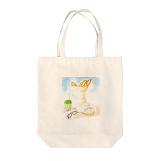 パンと麦わら帽 Tote Bag