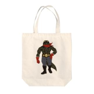 亜人のファイター(ベタ塗り) Tote bags