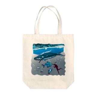 スカンジナビアの海のお散歩 Tote bags